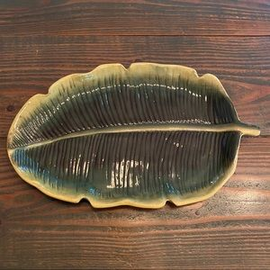 Home Interiors Palm Leaf Ceramic Wall Art
